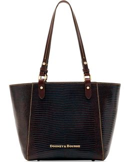 Lizard-embossed Janie Small Tote