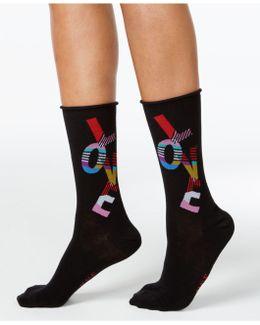 Women's Love Roll Top Socks