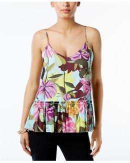 Hadley Floral-print Peplum Top