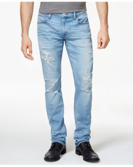 Men's Slouchy Skinny-fit Stretch Destroyed Jeans