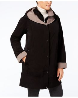 Plus Size Layered Raincoat
