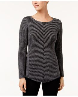 Multi-directional Ribbed Sweater