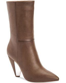 Leslie Cone-heel Booties