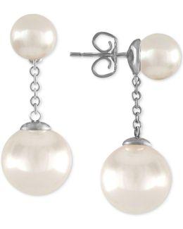 Sterling Silver Imitation Pearl Drop Earrings