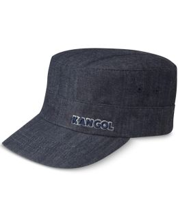 Men's Denim Army Cap