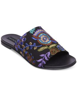 Women's Cushion Embroidered Sandals