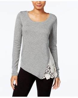 Lace-trim Sweater