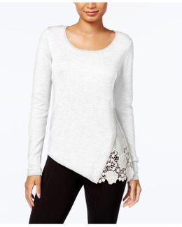 Lace-trim Sweater