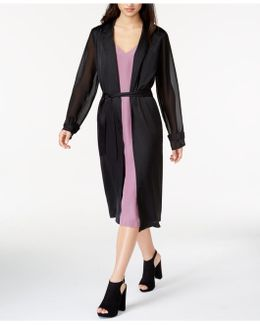 Sheer-sleeve Duster Cardigan
