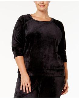 Plus Size Velvet Pajama Top
