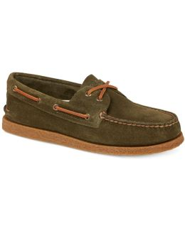 Men's A/o 2 Eye Suede Boat Shoes