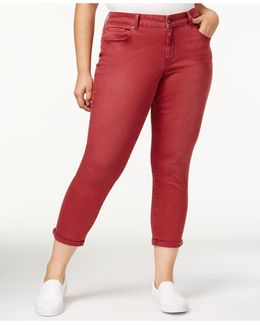Trendy Plus Size Skinny Ankle Jeans