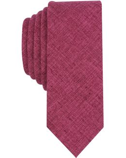 Men's Panel Solid Skinny Tie