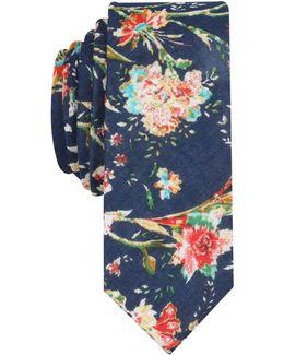 Men's Walport Floral Skinny Tie