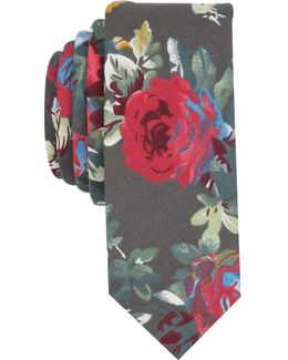 Men's Avoca Floral Skinny Tie