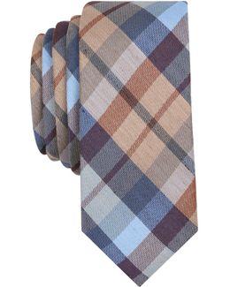 Men's Gazelle Plaid Skinny Silk Tie