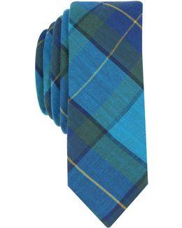 Men's Roszell Plaid Skinny Tie
