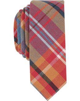 Men's Regale Plaid Skinny Tie