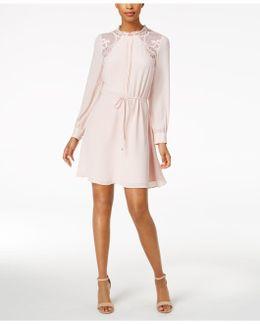 Illusion-lace A-line Dress