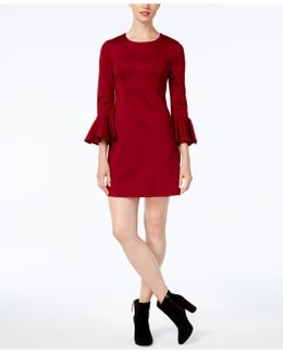 Panache Bell-sleeve Sheath Dress