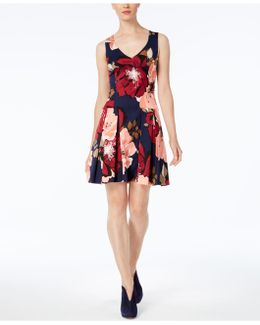 Devoted Printed Fit & Flare Dress