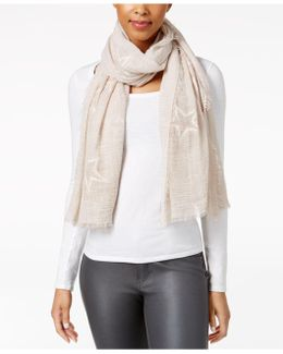 Subtle Star Embroidered Wrap
