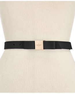 Smooth Leather Bow Belt