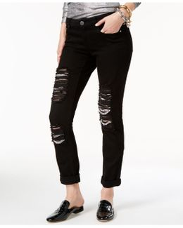 Ripped Chain-trim Jeans