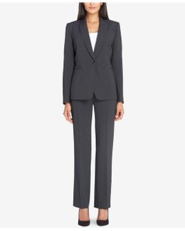 One-button Buckle Pantsuit