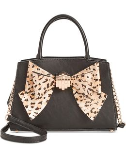 Medium Satchel With Removable Bow