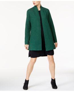 Wool Open-front Overcoat