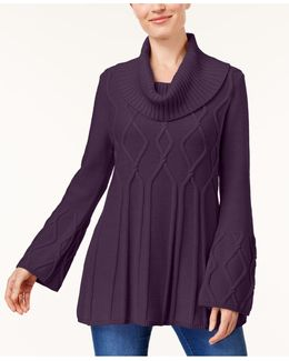 Cowl-neck Sweater Tunic