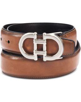 Men's Feather-edge Plaque Belt