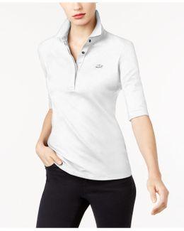 Elbow-sleeve Polo Shirt