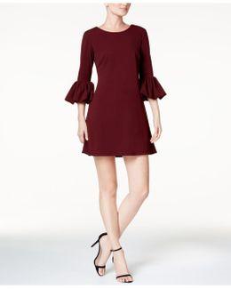 Petite Puff-sleeve Fit & Flare Dress