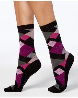 Women's Irregular Argyle Socks