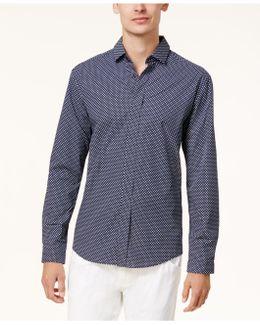 Men's Printed Poplin Shirt