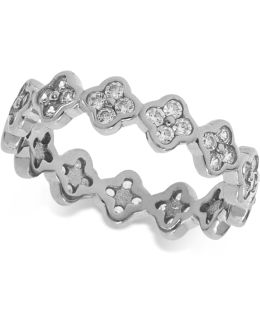 Cubic Zirconia Mini-cluster Stack Ring