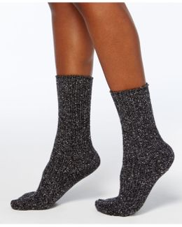 Women's Color-twist Tweed Ribbed Boot Socks