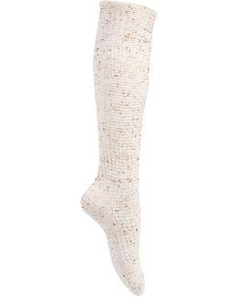 Women's Cuffed Thermal Tweed Knee Socks