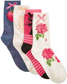 Women's 4-pk. Assorted Princesses Socks