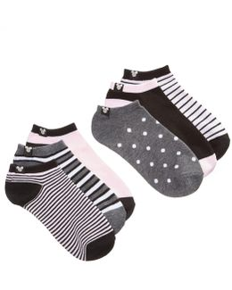 Women's 6-pk. Mickey Mouse Stripes No-show Socks