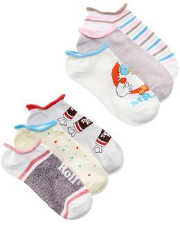 Women's 6-pk. Assorted Candy No-show Socks