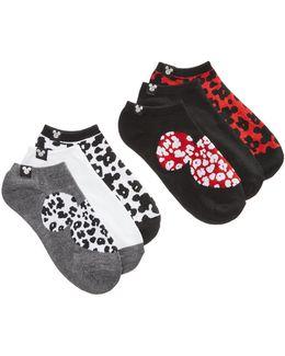 Women's 6-pk. Minnie Mouse Cheetah No-show Socks