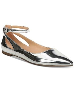 Sylvia Ankle-strap Flats