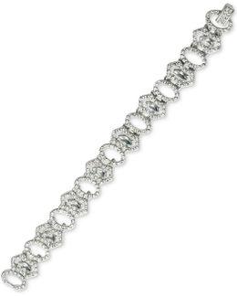 Silver-tone Pavé Link Bracelet