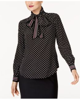 Silk Tie-neck Blouse