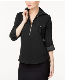 Zip-front Utility Shirt