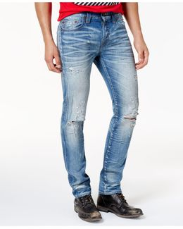 Men's Rocco Ripped Faded Jeans