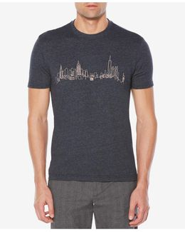 Men's Embroidered Skyline T-shirt